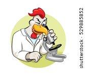 rooser scientist with... | Shutterstock .eps vector #529885852
