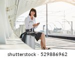 portrait of traveling business... | Shutterstock . vector #529886962