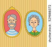 old couple grandmother and... | Shutterstock .eps vector #529888372