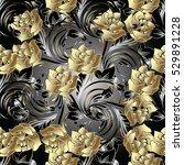 roses seamless pattern... | Shutterstock .eps vector #529891228