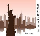 brown cityscape of new york...   Shutterstock .eps vector #529893082