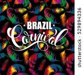 brazil carnival lettering... | Shutterstock .eps vector #529894336