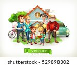 family. father  mother ... | Shutterstock .eps vector #529898302