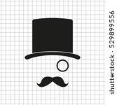 gentleman    black vector icon | Shutterstock .eps vector #529899556