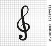 treble clef    black vector icon | Shutterstock .eps vector #529899586