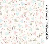 retro memphis geometric line... | Shutterstock .eps vector #529900915