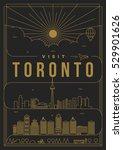 linear travel toronto poster... | Shutterstock .eps vector #529901626