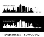 indianapolis skyline   vector... | Shutterstock .eps vector #529902442