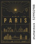Linear Travel Paris Poster...