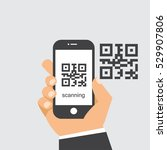 scan qr code to mobile phone. | Shutterstock .eps vector #529907806