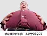 overweight stomach  shallow... | Shutterstock . vector #529908208