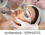 therapist beautician makes a ... | Shutterstock . vector #529910722