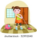 illustration of  woman using... | Shutterstock .eps vector #52992040