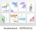 geometric background template... | Shutterstock .eps vector #529922512