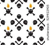 skulls seamless pattern simple...   Shutterstock .eps vector #529922905