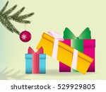 beautifully packaged gifts...   Shutterstock .eps vector #529929805