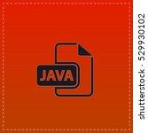 java icon vector. black flat...