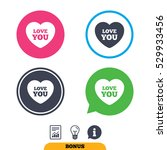 heart sign icon. love you... | Shutterstock .eps vector #529933456