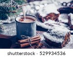 christmas cake with dried fruit ... | Shutterstock . vector #529934536