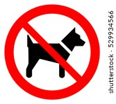 no dogs allowed. dog... | Shutterstock .eps vector #529934566