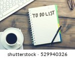 keyboard coffee  pen and... | Shutterstock . vector #529940326