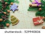 christmas gingerbread cookies | Shutterstock . vector #529940836