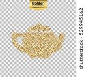 gold glitter vector icon of... | Shutterstock .eps vector #529945162