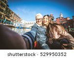couple of lovers on vacation in ... | Shutterstock . vector #529950352