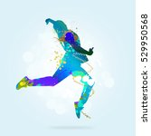 image with color silhouette of... | Shutterstock . vector #529950568