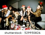 multi ethnic group of friends... | Shutterstock . vector #529950826