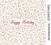 christmas icons seamless... | Shutterstock .eps vector #529957492