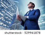 businessman against buildings... | Shutterstock . vector #529961878