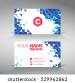 blue modern business card... | Shutterstock .eps vector #529962862