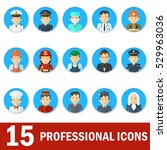 icons male professions.... | Shutterstock .eps vector #529963036