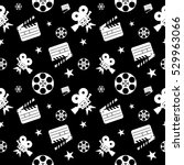 cinema concept seamless pattern.... | Shutterstock .eps vector #529963066