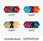 vector business geometric... | Shutterstock .eps vector #529969126