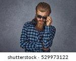 headshot serious skeptical... | Shutterstock . vector #529973122
