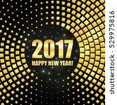 happy new year 2017 golden... | Shutterstock .eps vector #529975816