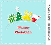 holiday banner  cute figurines... | Shutterstock .eps vector #529975972