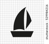 sailfish boat    black vector... | Shutterstock .eps vector #529984216