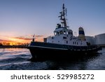 tugboat in operation during... | Shutterstock . vector #529985272