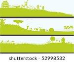 three landscapes | Shutterstock .eps vector #52998532