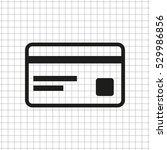 credit card    black vector icon | Shutterstock .eps vector #529986856