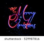 merry christmas greeting card.  ... | Shutterstock . vector #529987816
