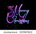 merry christmas greeting card.  ... | Shutterstock . vector #529987822