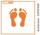 vector illustration foot | Shutterstock .eps vector #529987858