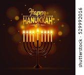 happy hanukkah background....   Shutterstock .eps vector #529992016