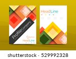 set of front and back a4 size... | Shutterstock .eps vector #529992328