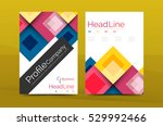 set of front and back a4 size... | Shutterstock .eps vector #529992466