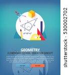 set of flat design illustration ... | Shutterstock .eps vector #530002702